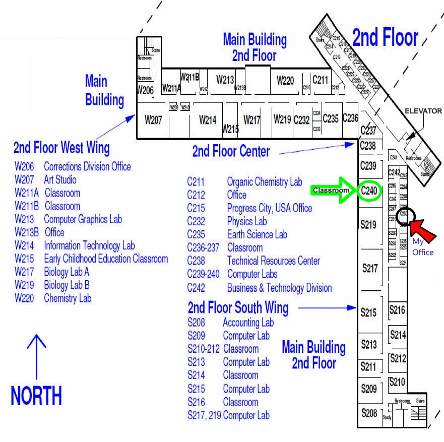 RCC Second Floor Map